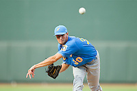 Myrtle Beach Pelicans relief pitcher Will Lamb (30) in action against the Winston-Salem Dash at BB&T Ballpark on July 7, 2013 in Winston-Salem, North Carolina.  The Pelicans defeated the Dash 6-5 in 8 innings in game two of a double-header.  (Brian Westerholt/Four Seam Images)