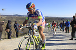 Peter Sagan (SVK) Tinkoff Saxo climbs Sector 7 Monte Sante Maria of gravel during the 2015 Strade Bianche Eroica Pro cycle race 200km over the white gravel roads from San Gimignano to Siena, Tuscany, Italy. 7th March 2015<br /> Photo: Eoin Clarke/www.newsfile.ie