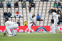 Mohammad Shami, India bowls as Kane Williamson, New Zealand backs up during India vs New Zealand, ICC World Test Championship Final Cricket at The Hampshire Bowl on 22nd June 2021