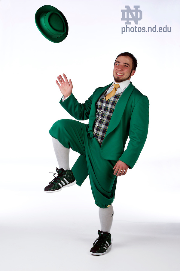 February 10, 2012; Leprechaun for the Notre Dame Magazine spring fashion issue. Photo by Barbara Johnston/University of Notre Dame