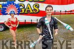 Practicing at Circus Vegas on Tuesday. Front right. Thomas Codandi (Juggler) with Theresa Peddie.