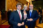 ALBERTO ANGELA CON VIRGINIE VASSART E MICHELE MIRABELLA<br /> PREMIO AMERICA FONDAZIONE ITALIA USA ROMA 2017