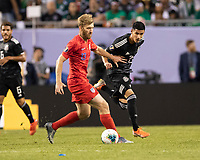CHICAGO, IL - JULY 7: Tim Ream #13 during a game between Mexico and USMNT at Soldiers Field on July 7, 2019 in Chicago, Illinois.
