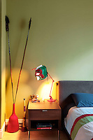 lamp in the classic bedroom