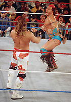 Tatanka  Shawn Michaels 1998                                               Photo By John Barrett/PHOTOlink