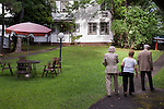 ***© 2005 MICHAEL NAGLE  ALL RIGHTS RESERVED***<br /> <br /> Members of the Four Seasons Lodge Catskills bungalow colony, a summer retreat for Holocaust survivors, on August 15, 2005.  Photograph by Michael Nagle