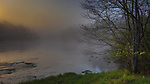 Misty sunrise on the East Fork of the Chippewa River in northern Wisconsin.