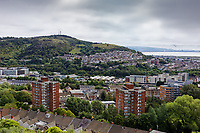 Pictured: The view of the Dyfatty, St Thomas and city centre areas from Mayhill. Wednesday 16 June 2021<br /> Re: Riot aftermath in the Mayhill area of Swansea, Wales, UK.