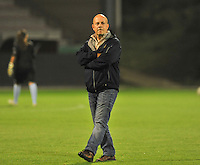 20131018 - ANTWERP , BELGIUM :  Antwerp coach Fred Ehlen pictured during the female soccer match between Royal Antwerp FC Ladies and Telstar Vrouwen Ijmuiden , of the Eight' matchday in the BENELEAGUE competition. Friday 18 October 2013. PHOTO DAVID CATRY