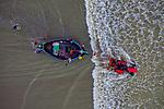 Colourful fishing trawlers by Azim Khan Ronnie