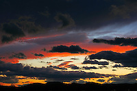 Sunset over the mountains in Charlottesville, Va. Photo/Andrew Shurtleff.