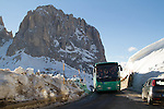 Near Passo Sella along drive to Val Gardena, Italy,