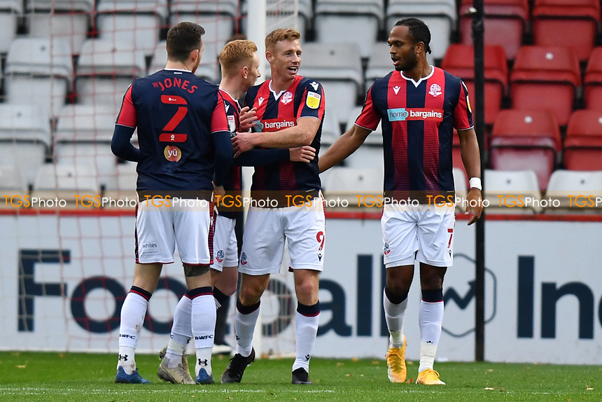 Eoin Doyle of Bolton Wanderers F.C. scores the first Goal and celebrates during Stevenage vs Bolton Wanderers, Sky Bet EFL League 2 Football at the Lamex Stadium on 21st November 2020