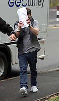 "COPY BY TOM BEDFORD<br /> Pictured: Stephen Rees Jones arriving at Merthyr Tydfil Crown Court, south Wales, UK. Tuesday 14 June 2016<br /> Re: A father-of-three turned into a violent rapist after taking a legal high, a court has heard.<br /> Stephen Jones, 41, smoked synthetic marijuana called Spice as he lay in bed with a woman he met three days earlier.<br /> The jury heard he suddenly became aggressive, giving the blonde, 28, a black eye and sexually assaulting her.<br /> Prosecutor Michael Hammett said: ""The Spice drug had a bad effect on him.<br /> ""His character changed, he became aggressive and he threatened to bury her in the local graveyard.""<br /> His victim, who can't be named for legal reasons, tried to escape but was too afraid of what Jones would do to her."