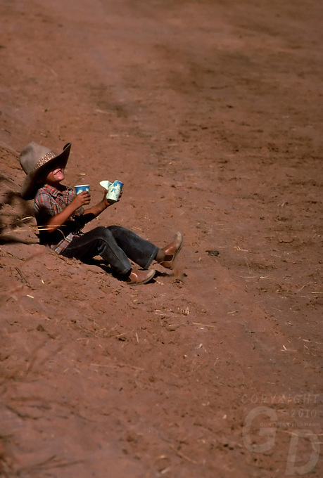 A happy young Cowboy outback Australia
