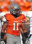 Oklahoma State Cowboys linebacker Shaun Lewis (11) in action during the game between the Baylor Bears and the Oklahoma State Cowboys at the Boone Pickens Stadium in Stillwater, OK. Oklahoma State defeats Baylor 59 to 24.