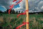 1980's development stake threatens farmland, King County, Woodinville, Seattle Area,