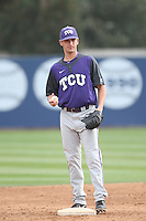 Preston Guillory (20) of the TCU Horned Frogs before a game against the Loyola Marymount Lions at Page Stadium on March 16, 2015 in Los Angeles, California. TCU defeated Loyola, 6-2. (Larry Goren/Four Seam Images)