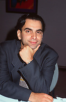 File 1998, Montreal, Quebec, Canada<br /> <br /> Daniel Langlois, Founder and  CEO Softimage, movie animation program.<br /> <br />  <br /> Mandatory Credit: Photo by Pierre Roussel- Images Distribution. (©) Copyright 1998 by Pierre Roussel <br /> ON SPEC<br /> NOTE: scan from 35mm slide