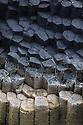 Hexagonal basalt columns, Isle of Staffa, Inner Hebrides, Scotland, UK.