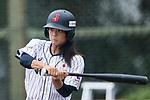 #77 Watanabe Nana of Japan bats during the BFA Women's Baseball Asian Cup match between Japan and Hong Kong at Sai Tso Wan Recreation Ground on September 5, 2017 in Hong Kong. Photo by Marcio Rodrigo Machado / Power Sport Images