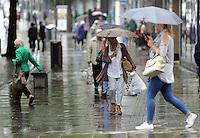2016 09 13 Rainy weather, Oxford Street, Swansea, UK