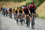 Team Ineos take control of the pace on the front of the peloton on the final climb during Stage 2 of Criterium du Dauphine 2020, running 135km from Vienne to Col de Porte, France. 13th August 2020.<br /> Picture: ASO/Alex Broadway   Cyclefile<br /> All photos usage must carry mandatory copyright credit (© Cyclefile   ASO/Alex Broadway)
