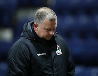 29th December 2020; Deepdale Stadium, Preston, Lancashire, England; English Football League Championship Football, Preston North End versus Coventry City; Coventry City manager Mark Robins walks to the tunnel at half time