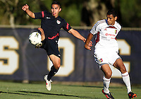 MIAMI, FL - DECEMBER 21, 2012:  Daniel Cuevas of the USA MNT U20 during a closed scrimmage with the Venezuela U20 team, on Friday, December 21, 2012, At the FIU soccer field in Miami.  USA won 4-0.