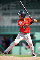 Boston Red Sox Tzu-Wei Lin (7) during an Instructional League game against the Minnesota Twins on September 23, 2016 at JetBlue Park at Fenway South in Fort Myers, Florida.  (Mike Janes/Four Seam Images)