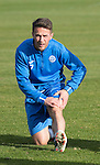 St Johnstone Training….28.10.16<br />Chris Millar pictured during training this morning at McDiarmid Park ahead of tomorrow's game against Partick Thistle.<br />Picture by Graeme Hart.<br />Copyright Perthshire Picture Agency<br />Tel: 01738 623350  Mobile: 07990 594431