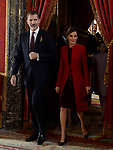 King Felipe VI of Spain and Queen Letizia of Spain attend the Order of Golden Fleece (Toison de Oro), ceremony at the Royal Palace. January 30,2018. (ALTERPHOTOS/Pool)
