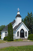 Canada Fairfield New Brunswick beautiful white church called Fairfield Baptist Church in summer