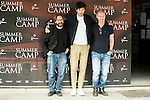 "Italian director of the film, Alberto Marini (L), spanish actor and model Andres Velencoso (C) and spanish director and producer of the film, Jaume Balaguero (R) during the presentation of the film ""Summer Camp"" at Cines Paz in Madrid. June 06. 2016. (ALTERPHOTOS/Borja B.Hojas)"