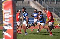 Whanganui's Kameli Kuruyabaki runs for the line during the 2021 Heartland Championship rugby match between Whanganui and Poverty Bay at Cooks Gardens in Whanganui, New Zealand on Saturday, 18 September 2021. Photo: Dave Lintott / lintottphoto.co.nz