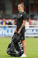 Team manager Annelies Menten pictured before a preseason friendly soccer game between Tempo Overijse and Royale Union Saint-Gilloise, Saturday 29th of June 2021 in Overijse, Belgium. Photo: SPORTPIX.BE   SEVIL OKTEM