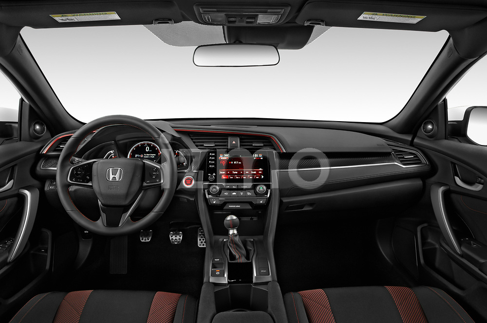 Stock photo of straight dashboard view of 2020 Honda Civic-Si-Coupe Si 2 Door Coupe Dashboard