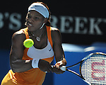 January 27, 2010.Serena Williams of the USA, in action, defeating Victoria Azarenka of Belarus, 4-6, 7-6, 7-2, in the quarter final of the The Australian Open, Melbourne Park, Melbourne, Australia.