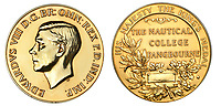 BNPS.co.uk (01202 558833)<br /> Pic: DNW/BNPS<br /> <br /> PICTURED: A unique gold medal depicting Edward VIII has sold for almost £22,000 after a bidding war - over five times its estimate.<br /> <br /> The medal, officially known as the King's Medal, was presented to the star student at the Nautical College in Pangbourne, Berks, in 1936.<br /> <br /> Since it was awarded annually, 19 year old George Lainchbury Bown was the only recipient during Edward's short-lived reign, so it is the sole example made.<br /> <br /> Edward abdicated the throne after 11 months in December 1936 to marry American divorcee socialite Wallis Simpson.<br /> <br /> Bown's medal was acquired by the Old Pangbournian Society, a college alumni organisation, at the sale held by London-based auctioneers Dix Noonan Webb.