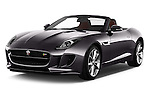 2016 Jaguar F Type S 2 Door Convertible Angular Front stock photos of front three quarter view