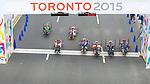 Mark Ledo and Charles Moreau, Toronto 2015 - Para Cycling // Paracyclisme.<br /> Mark Ledo and Charles Moreau compete in the Men's Cycling Road Race H3-5 // Mark Ledo et Charles Moreau participent à la course cycliste sur route hommes H3-5. 08/08/2015.