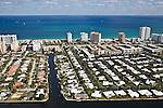 Pompano Beach, Florida - FL A1A, South Ocean Blvd., Terra Mar Drive, Sunset lane - helicopter aerial
