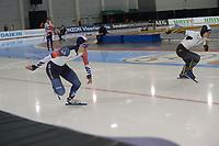 SPEEDSKATING: 14-02-2020, Utah Olympic Oval, ISU World Single Distances Speed Skating Championship, 500m Men, Min Kyu Cha (KOR), Daichi Yamanaka (JPN), ©Martin de Jong