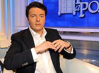 Matteo Renzi.Roma 01/04/2010 .Rai Porta a Porta.Foto Gb / Insidefoto