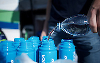 getting the bidons ready for stage 1<br /> <br /> Team Orica-GreenEDGE