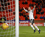 30.11.2018 Dundee Utd v Ayr Utd: Michael Moffat scores goal no 3 and celebrates