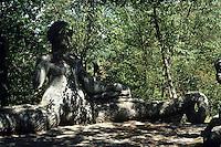 Il Parco dei Mostri di Bomarzo fu fatto costruire da Vicino Orsini, presumibilmente tra il 1552 ed il 1580..The Park of Monsters of Bomarzo was built by Vicino Orsini, presumably between 1552 and 1580...