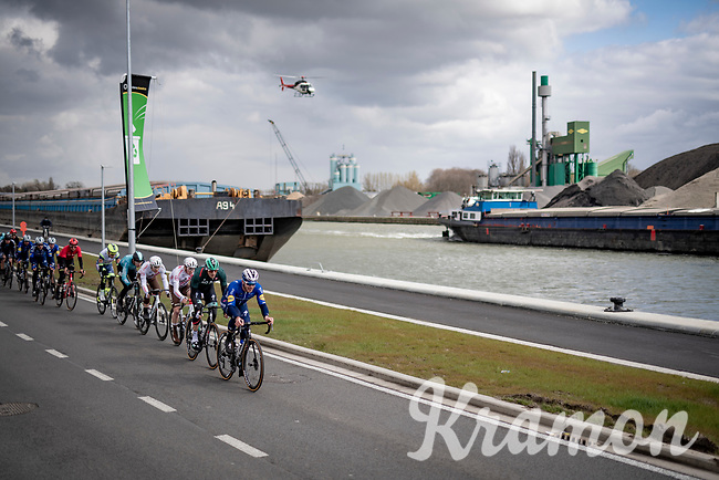 racing along the canal<br /> <br /> 109th Scheldeprijs 2021 (ME/1.Pro)<br /> 1 day race from Terneuzen (NED) to Schoten (BEL): 194km<br /> <br /> ©kramon