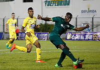 Floridablanca -Colombia,14-05-2017.Carmelo Valencia payer of La Equidad. Action game between Bucaramanga and Equidad during match for the date 18 of the Aguila League I 2017 played at Alvaro Gomez stadium . Photo:VizzorImage / Oscar Martinez  / Contribuidor