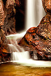 Close-up of Chasm Waterfall in Rocky Mountain National Park